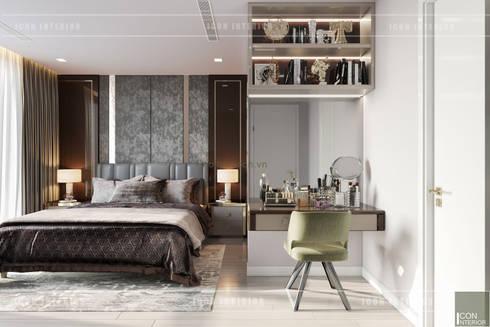 THIẾT KẾ CĂN HỘ VINHOMES GOLDEN RIVER – Cảm hứng Xanh Olive:  Phòng ngủ by ICON INTERIOR