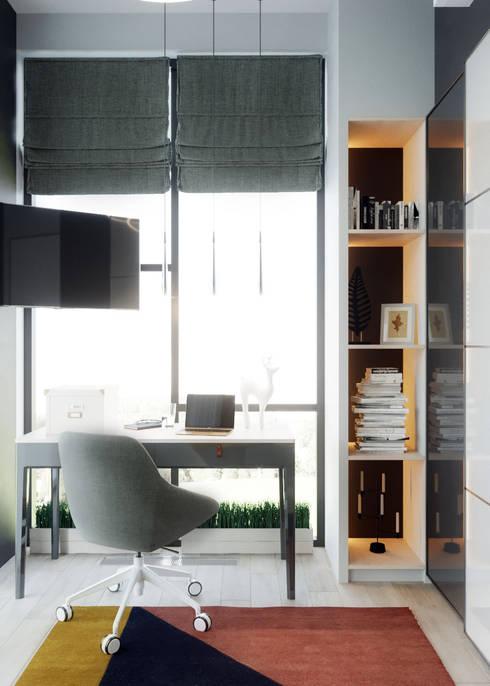 Таунхаус в Футуро Парк: Рабочие кабинеты в . Автор – Loft&Home