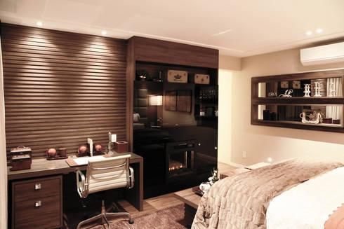 Apartamento – CLÁSSICO E CONTEMPORÂNEO: Quartos  por INSIDE ARQUITETURA E DESIGN