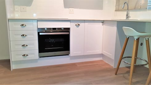Stove View - Not quite finished.:  Built-in kitchens by Zingana Kitchens and Cabinetry