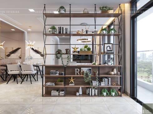 THIẾT KẾ NỘI THẤT CĂN HỘ VINHOMES GOLDEN RIVER - Xu hướng thiết kế vách ngăn:  Nhà bếp by ICON INTERIOR