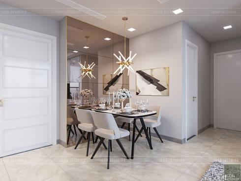 THIẾT KẾ NỘI THẤT CĂN HỘ VINHOMES GOLDEN RIVER – Xu hướng thiết kế vách ngăn:  Phòng ăn by ICON INTERIOR