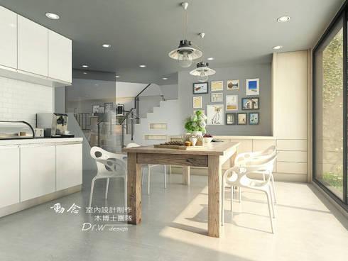 打造專屬於你的19度C 微工業風:  餐廳 by 木博士團隊/動念室內設計制作