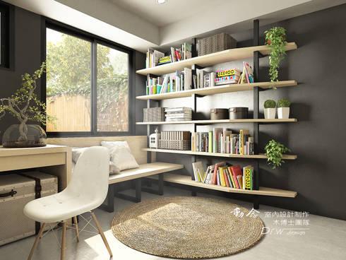 打造專屬於你的19度C 微工業風:  書房/辦公室 by 木博士團隊/動念室內設計制作