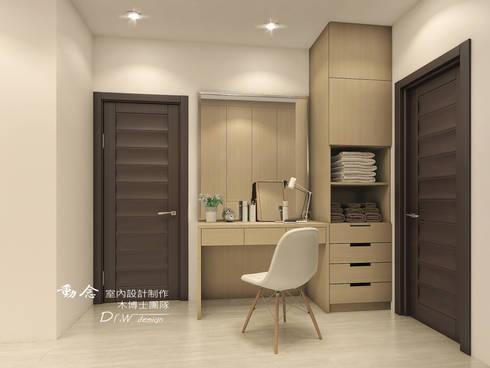 打造專屬於你的19度C 微工業風:  臥室 by 木博士團隊/動念室內設計制作