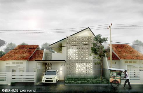 Rumah Roster:  Rumah tinggal  by Scande Architect