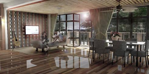 Living Room:  Ruang Keluarga by Scande Architect