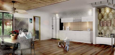 Dapur Putih:  Dapur built in by Scande Architect
