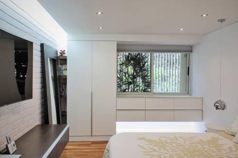 Apartamento en Chulavista: Cuartos de estilo minimalista por RRA Arquitectura