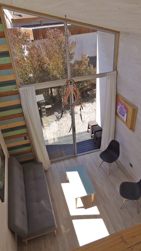 Cabañas Algarrobo: Livings de estilo  por m2 estudio arquitectos - Santiago