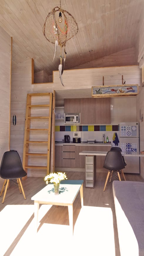 Cabañas Algarrobo: Cocinas de estilo  por m2 estudio arquitectos