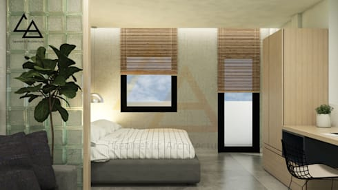 Bedroom:   by G.A Studio