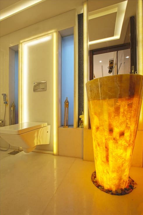 Bathroom lighting option:  Bathroom by Innerspace