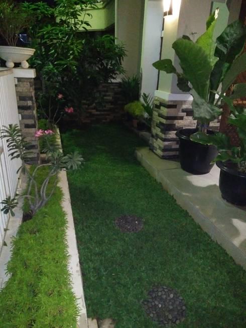 Taman Mungil di Halaman Depan Rumah:  Teras by Amirul Design & Build