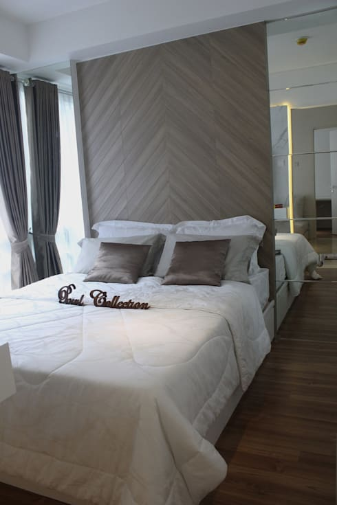 Double bed:  Kamar Tidur by POWL Studio