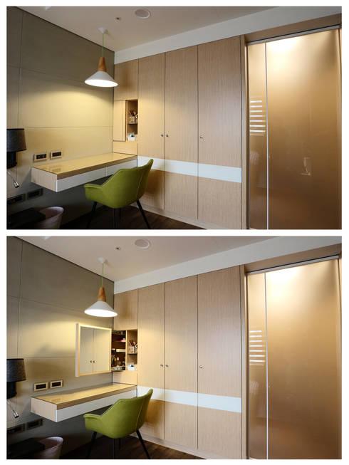 質感輕工業與懷舊三合院的幸福調和:  臥室 by 青築制作
