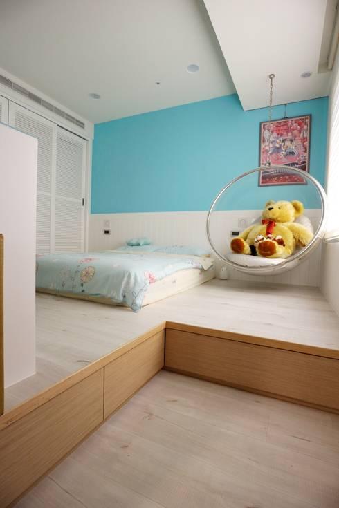 質感輕工業與懷舊三合院的幸福調和:  女孩房 by 青築制作