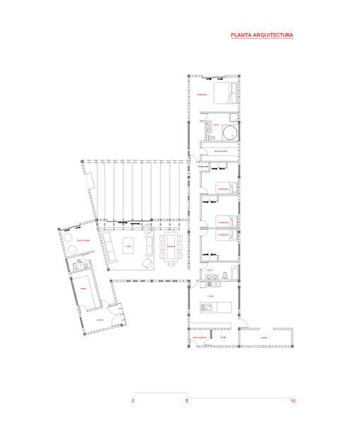 Planta General de Arquitectura:  de estilo  por D01 arquitectura