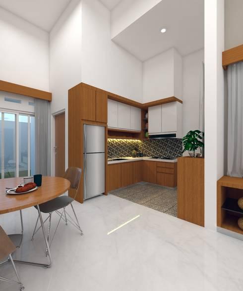 PERUMAHAN TROPIS PEKANBARU:  Dapur built in by CASA.ID ARCHITECTS