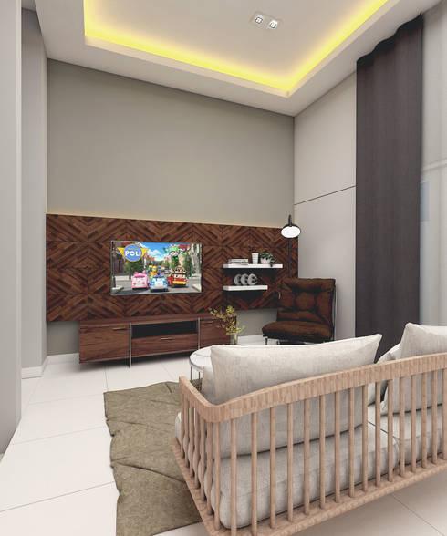 SCANDINAVIAN MOOD DESIGN:  Ruang Keluarga by CASA.ID ARCHITECTS