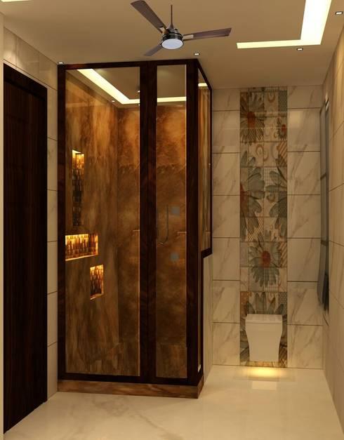 VILLA @ NOIDA: modern Bathroom by Design Radical