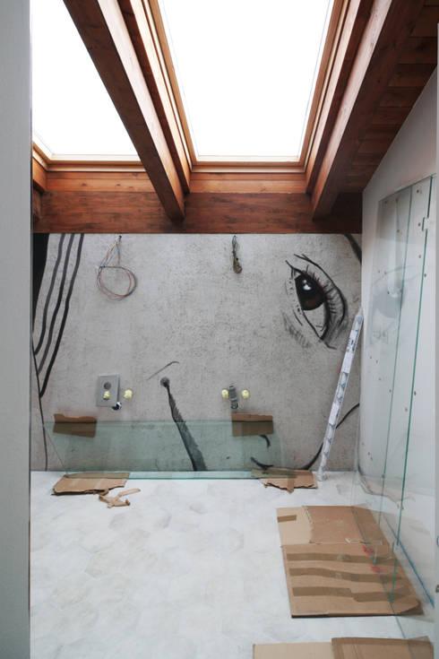 Work in progress: Bagno in stile  di Flavia Benigni Architetto