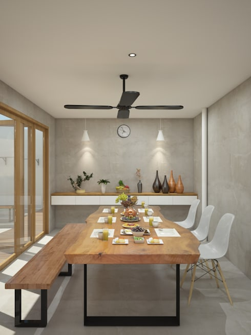 SL 09 House:  Ruang Makan by Inspace Studio