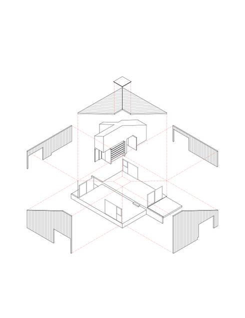 Isométrica Desplegada: Casas de estilo  por mutarestudio Arquitectura