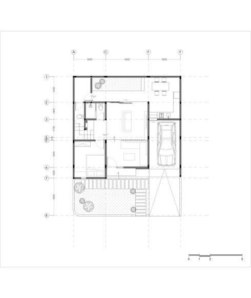 Denah lantai 1:   by Tigha Atelier