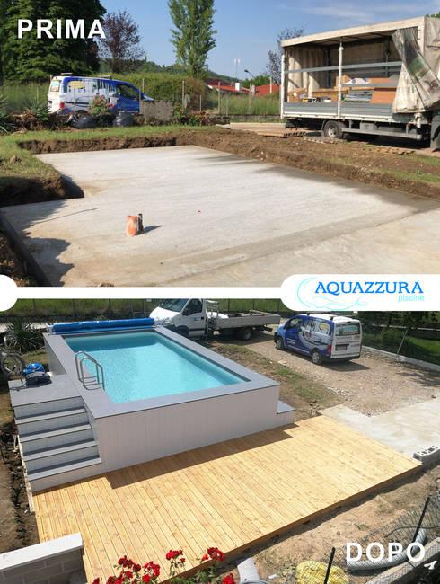 Costruzione piscine fuori terra su misura a treviso - Aquazzura piscine ...