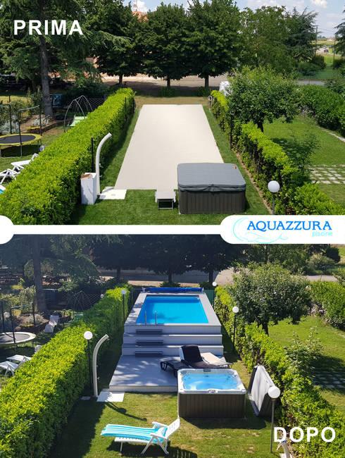 Costruzione piscine fuori terra su misura a treviso - Sacchi di terra per giardino ...