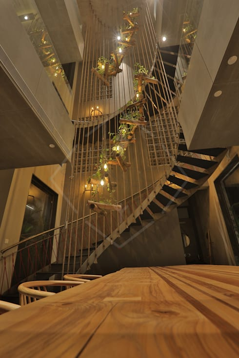"""""""WRAPED"""" ARCHITECTURE -:  Stairs by SPACCE INTERIORS"""