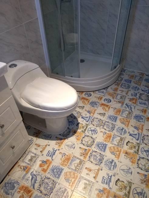 Casa pasiva en Catapilco en Super Aislación en poliestireno de alta densidad (20-30 kg/m3): Baños de estilo  por Casas Green Planet