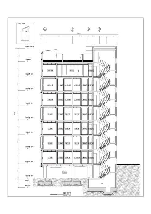 동소문동 오피스텔 더에이트: 오파드 건축연구소의