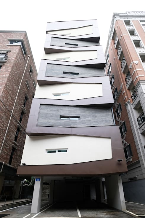 동소문동 오피스텔 더에이트: 오파드 건축연구소의  주택