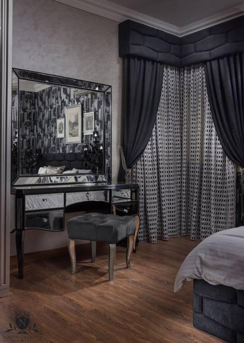 Ultra modern luxury bedroom  Never be scared of black:  المنزل تنفيذ NADIA .Gallery