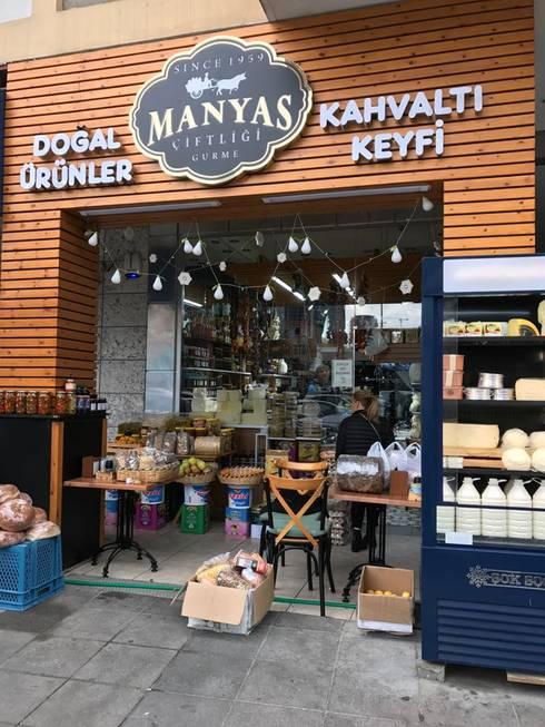 Mimayris Proje ve Yapı Ltd. Şti. – Dış Mekan ve Cephe Tasarımı:  tarz Ofis Alanları & Mağazalar