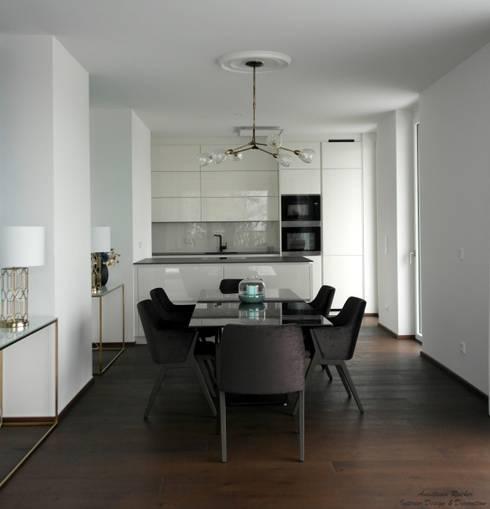 Wohnküche :  Esszimmer von Anastasia Reicher Interior Design & Decoration in Wien