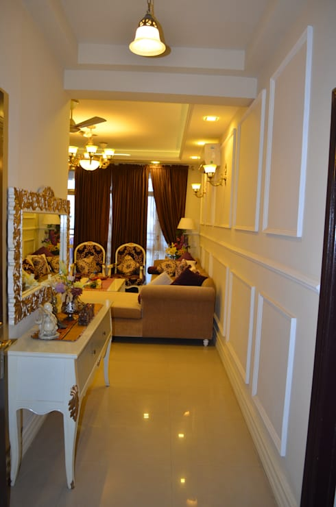 Corridor & hallway by Neun designs Pvt.Ltd.