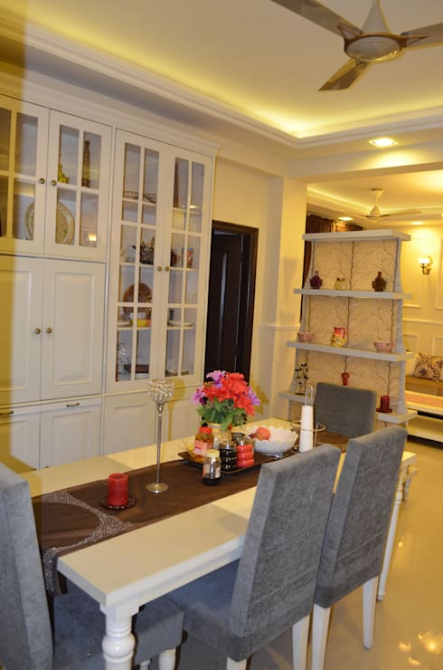 Dining room by Neun designs Pvt.Ltd.