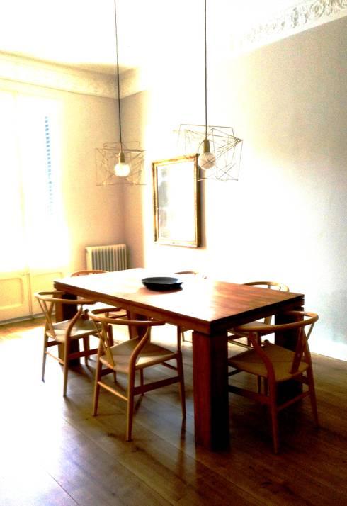 Fachada SO - comedor: Comedores de estilo  de Arpa'Studio Arquitectura y Feng Shui