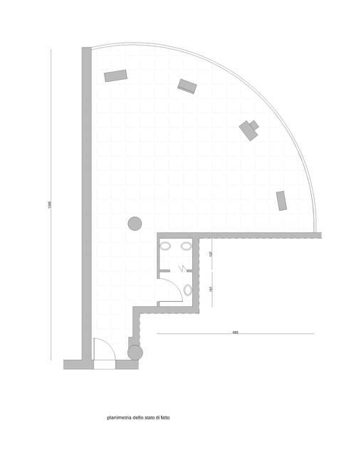 Planimetria dell'ufficio prima dei lavori:  in stile  di serenascaioli_progettidinterni