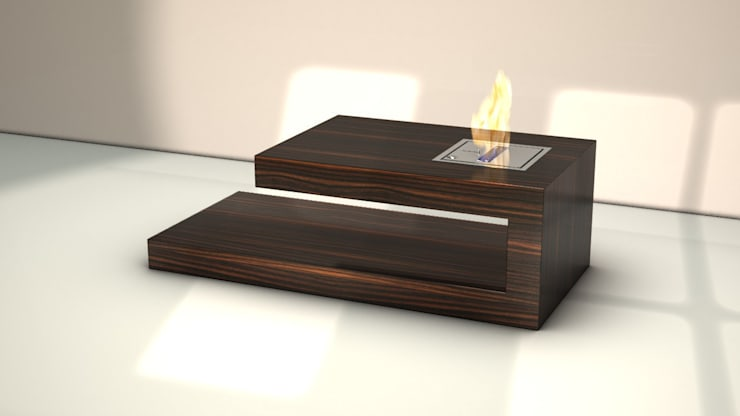 "Coffee Table ""FIRE"":  Wohnzimmer von BERLINRODEO interior concepts GmbH"