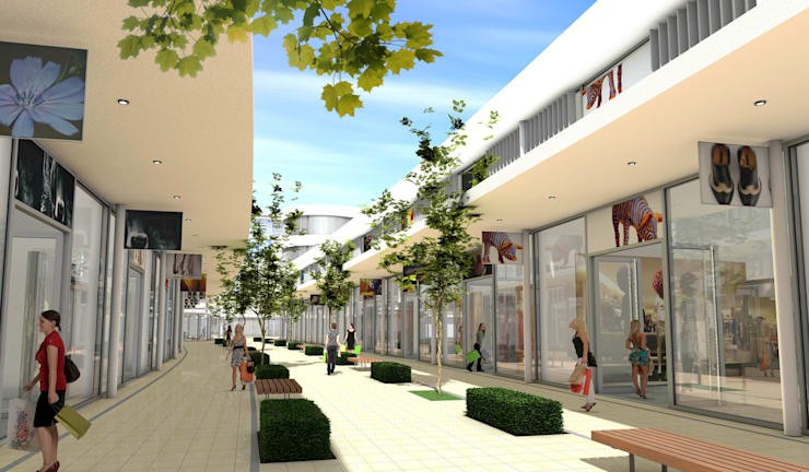 FOC Shopping Meile Moderne Einkaufscenter von Architekten Graf + Graf Modern