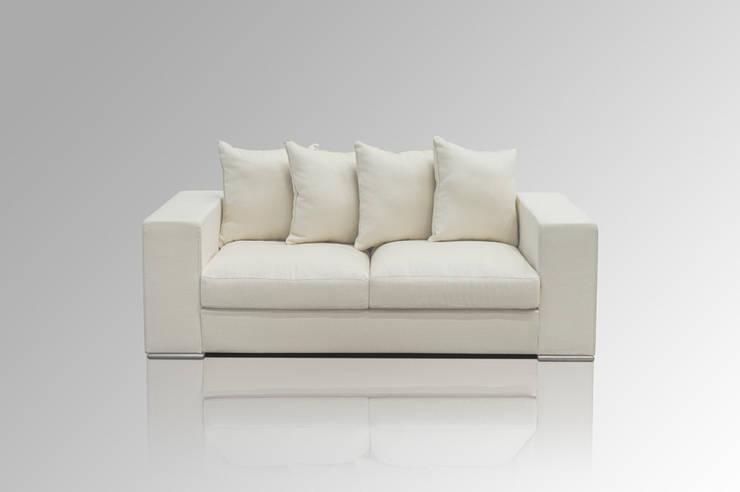 Sofa 2-SITZER CREME:  Wohnzimmer von Amaris Elements