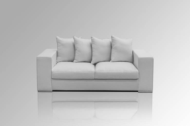 Sofa 2-SITZER GRAU:  Wohnzimmer von Amaris Elements