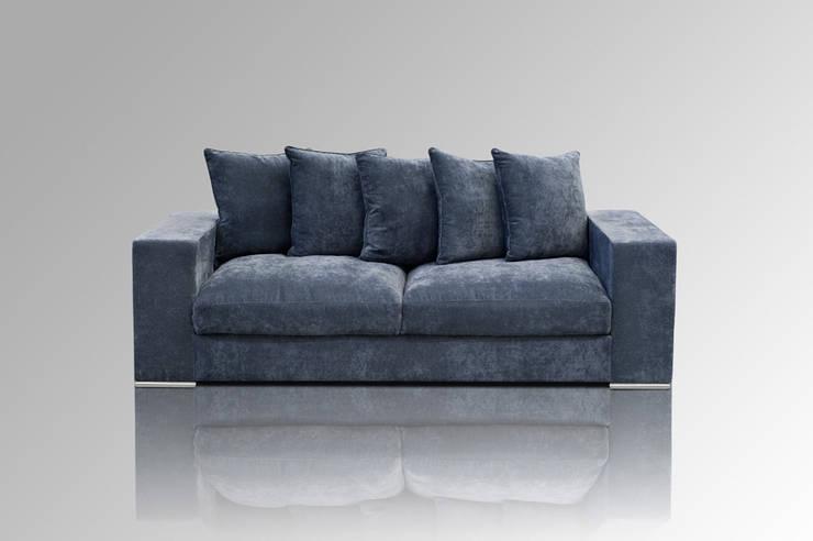 Sofa 3-SITZER BLAUGRAU:  Wohnzimmer von Amaris Elements