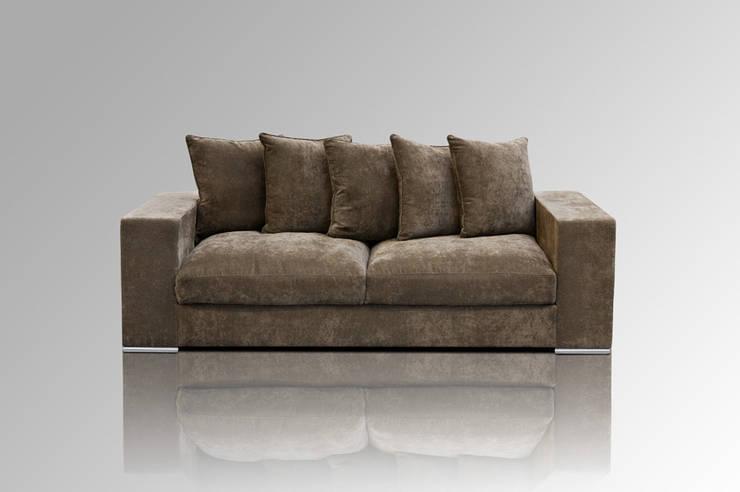 Sofa 3-SITZER BRAUN:  Wohnzimmer von Amaris Elements