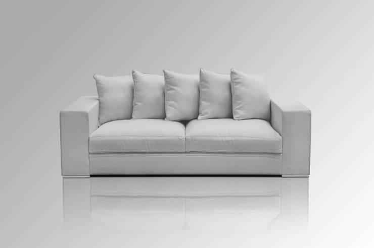 Sofa 3-SITZER GRAU:  Wohnzimmer von Amaris Elements