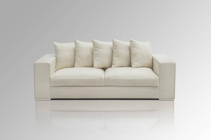 Sofa 3-SITZER CREME:  Wohnzimmer von Amaris Elements
